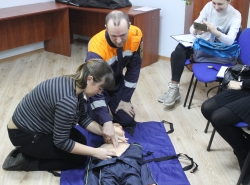 Обучение методам оказания первой помощи пострадавшим. Декабрь 2018 год