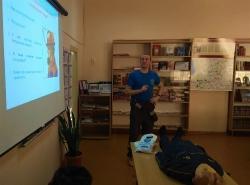13 февраля проведено занятие с сотрудниками МБОУ Сосновская СОШ с отработкой практических навыков оказания первой помощи.