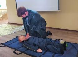02 октября 2020 года состоялось выездное занятие с организациями Славского района по обучению методам оказания первой помощи пострадавшим._